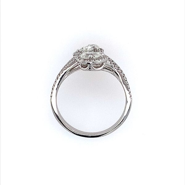 14K White Gold Two Pear Cut Diamond Ring Image 4 Franzetti Jewelers Austin, TX