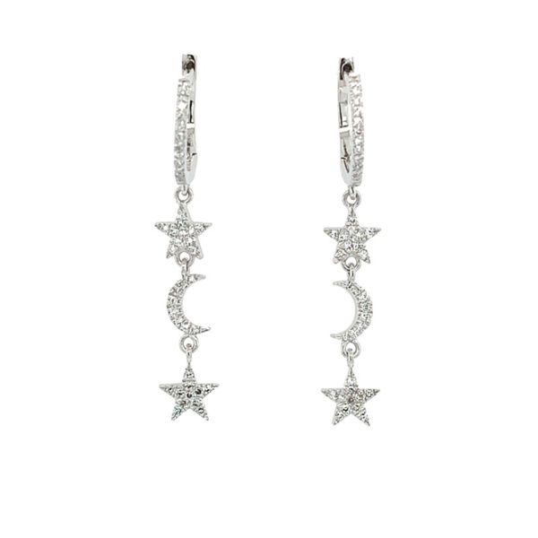 596b54f35 Diamond Pave Star & Crescent Moon Dangle Earring thumb image 1