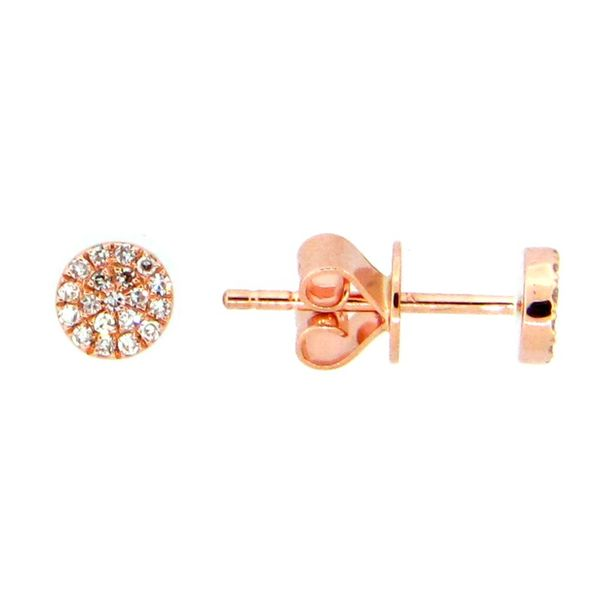 Diamond Disc Stud Earrings Franzetti Jewelers Austin, TX