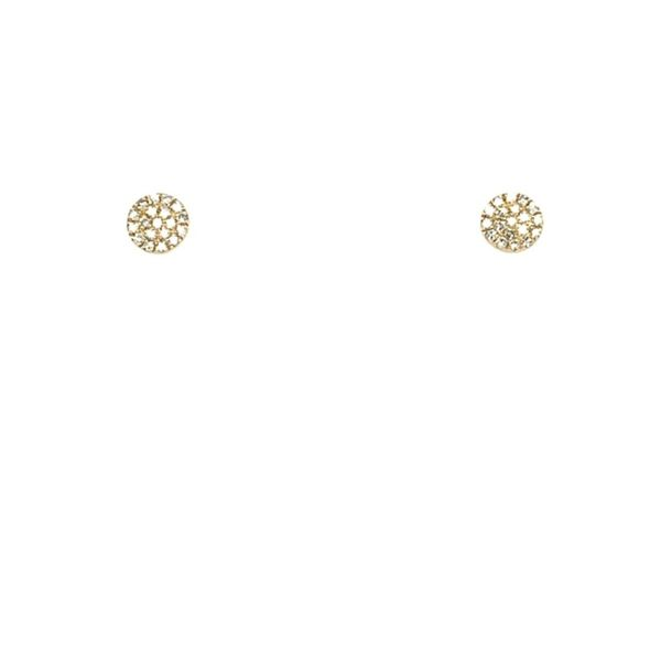 Diamond Disc Stud Earrings Image 4 Franzetti Jewelers Austin, TX