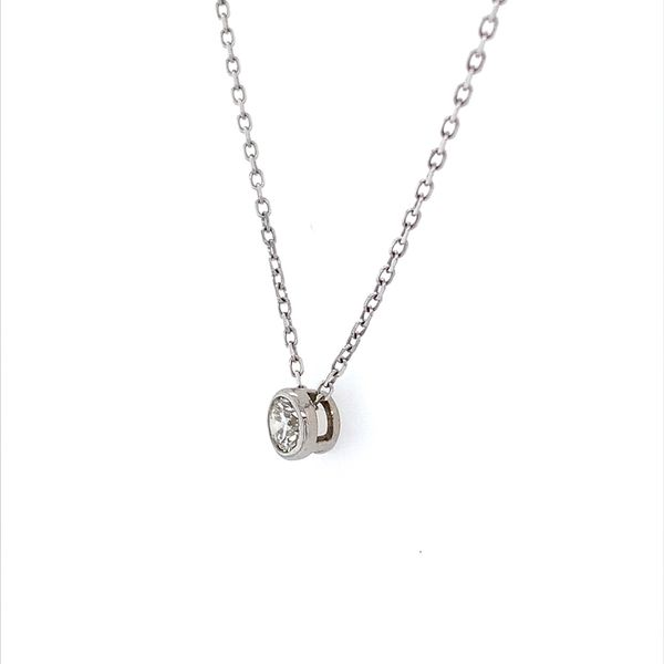 14K White Gold Necklace with 0.32 Carat Diamond Slide Pendant Image 2 Franzetti Jewelers Austin, TX