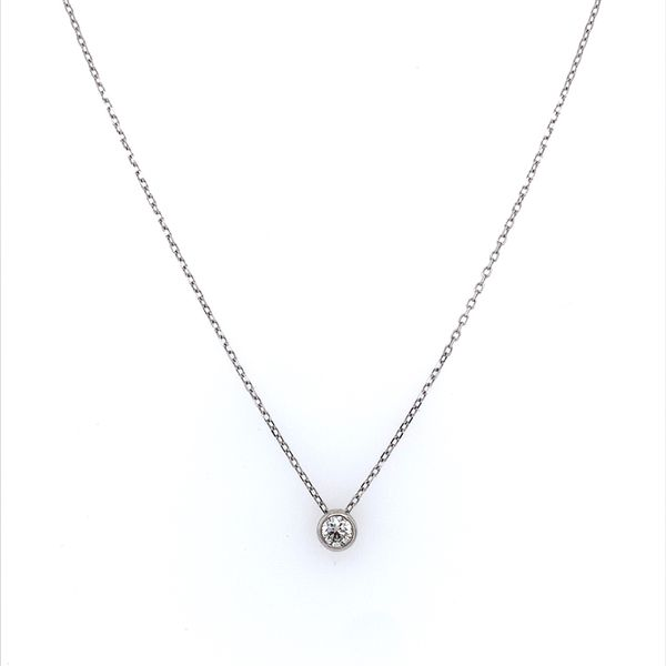 14K White Gold Necklace with 0.32 Carat Diamond Slide Pendant Image 3 Franzetti Jewelers Austin, TX