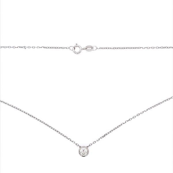 14K White Gold Necklace with 0.32 Carat Diamond Slide Pendant Image 4 Franzetti Jewelers Austin, TX
