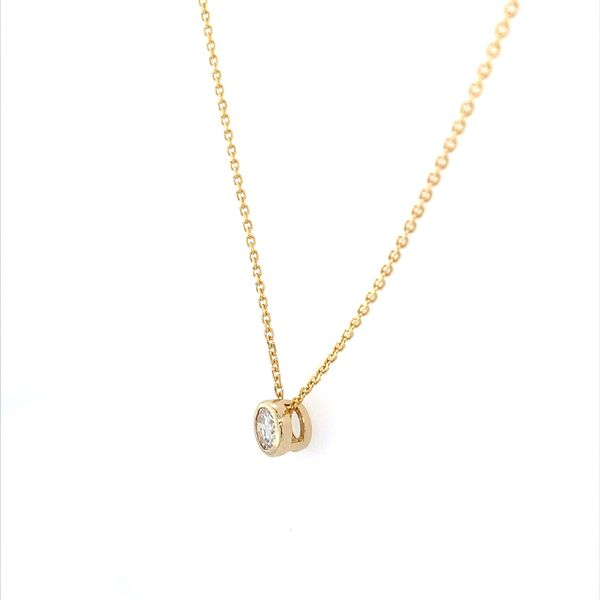 14K Yellow Gold Necklace with 0.33 Carat Diamond Slide Pendant Image 2 Franzetti Jewelers Austin, TX