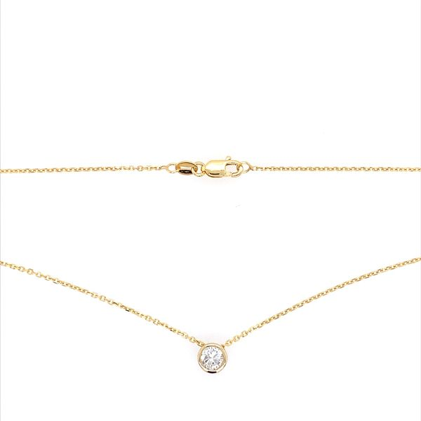14K Yellow Gold Necklace with 0.33 Carat Diamond Slide Pendant Image 4 Franzetti Jewelers Austin, TX