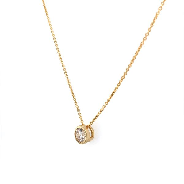 14K Yellow Gold Necklace with 0.66 Carat Diamond Slide Pendant Image 2 Franzetti Jewelers Austin, TX