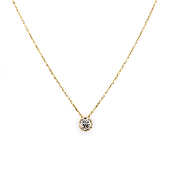 14K Yellow Gold Necklace with 0.66 Carat Diamond Slide Pendant Image 3 Franzetti Jewelers Austin, TX