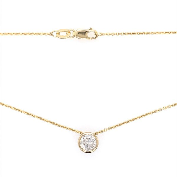 14K Yellow Gold Necklace with 0.66 Carat Diamond Slide Pendant Image 4 Franzetti Jewelers Austin, TX