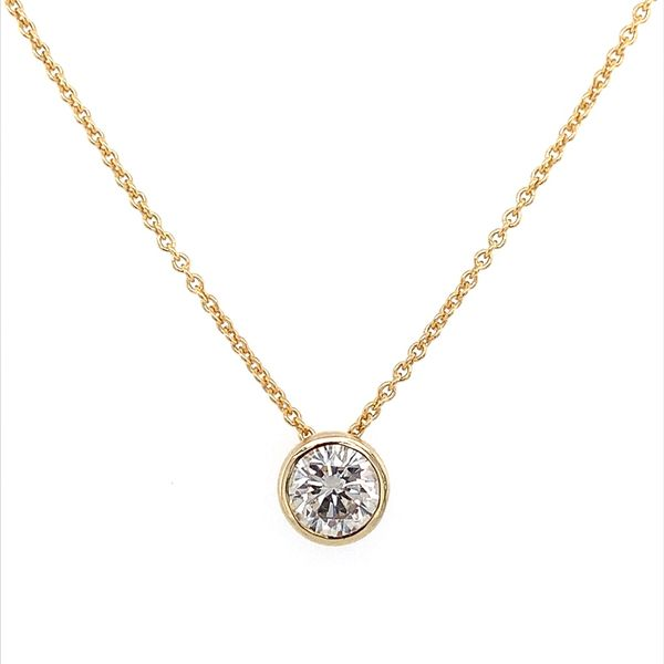 14K Yellow Gold Necklace with 0.66 Carat Diamond Slide Pendant Franzetti Jewelers Austin, TX