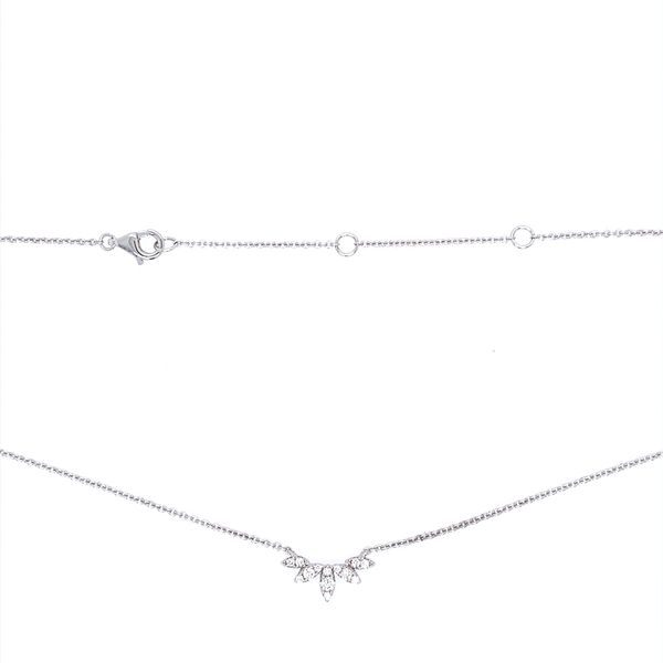 14KW Gold Diamond Necklace Image 3 Franzetti Jewelers Austin, TX