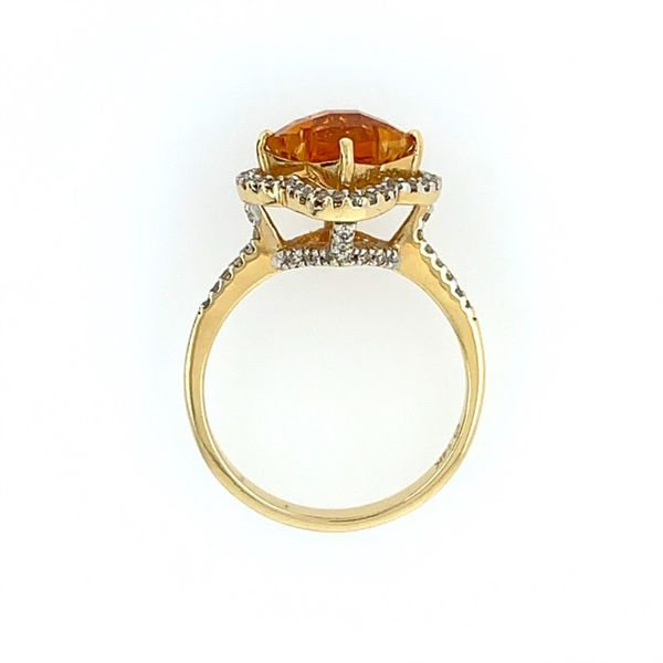 14K Yellow Gold Citrine & Diamond Ring Image 3 Franzetti Jewelers Austin, TX