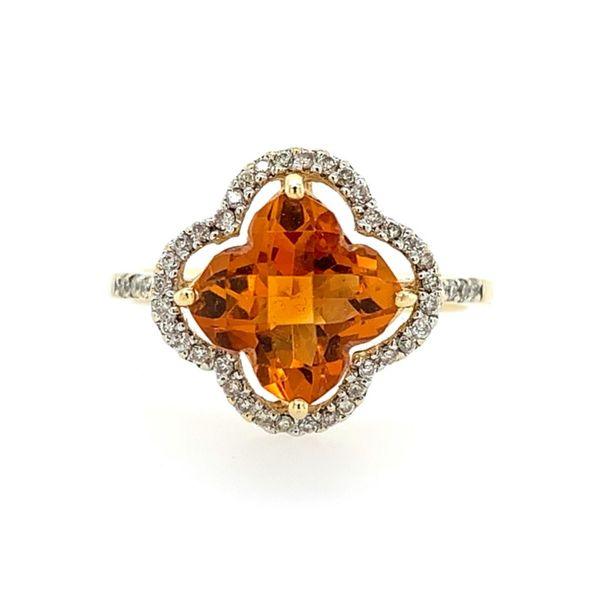 14K Yellow Gold Citrine & Diamond Ring Franzetti Jewelers Austin, TX