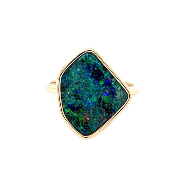 14K Yellow Gold Boulder Opal Ring Franzetti Jewelers Austin, TX