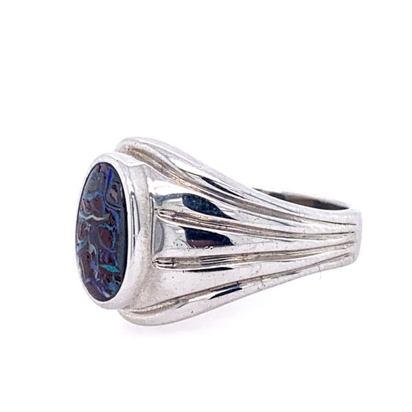 SS Boulder Opal Ring Image 2 Franzetti Jewelers Austin, TX