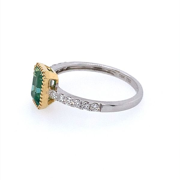 18K Gold Emerald & Diamond Ring Image 3 Franzetti Jewelers Austin, TX