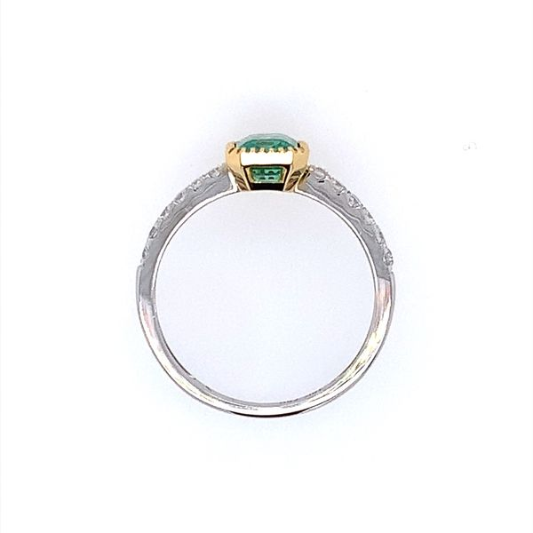 18K Gold Emerald & Diamond Ring Image 4 Franzetti Jewelers Austin, TX