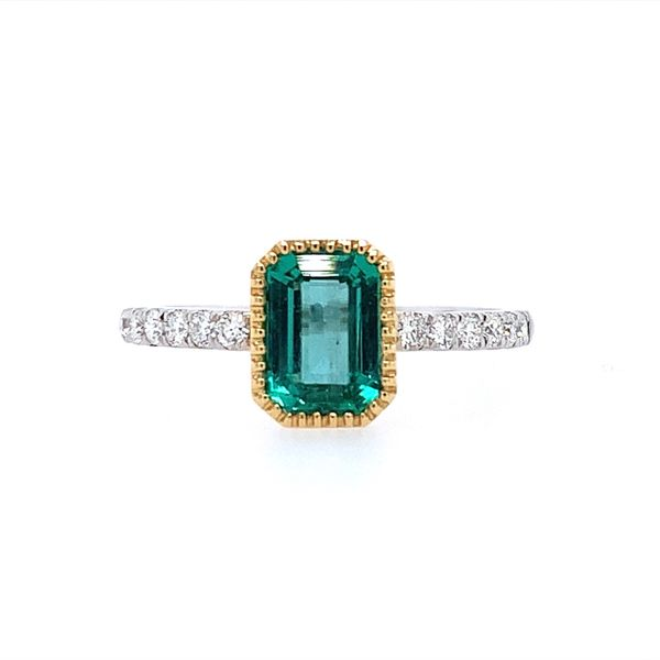 18K Gold Emerald & Diamond Ring Franzetti Jewelers Austin, TX
