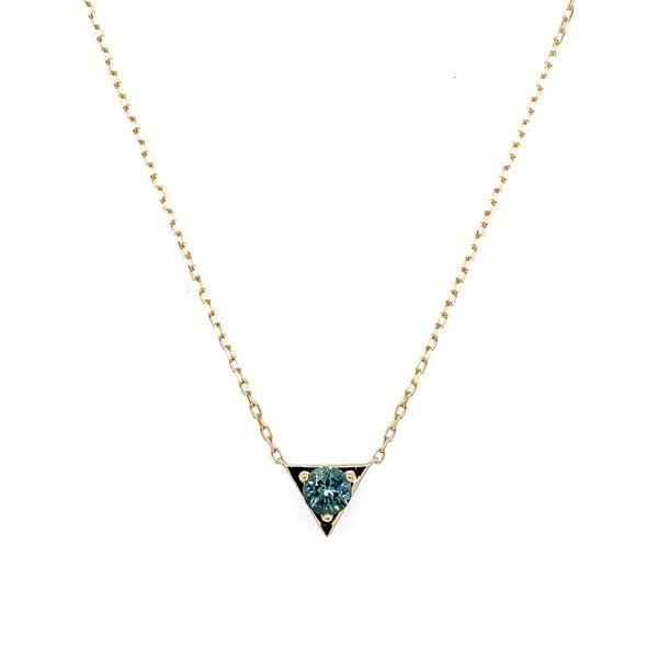 14KY Gold Montana Sapphire Necklace Image 2 Franzetti Jewelers Austin, TX