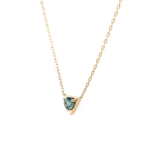 14KY Gold Montana Sapphire Necklace Image 3 Franzetti Jewelers Austin, TX
