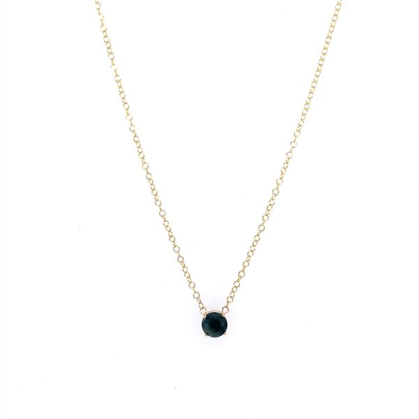14K Yellow Gold Blue Sapphire Necklace Image 3 Franzetti Jewelers Austin, TX
