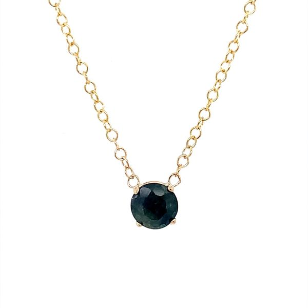 14K Yellow Gold Blue Sapphire Necklace Franzetti Jewelers Austin, TX
