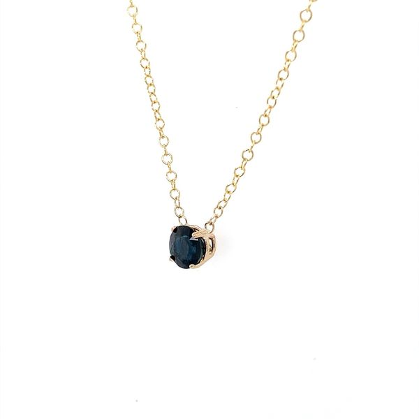 14K Yellow Gold Blue Sapphire Necklace Image 2 Franzetti Jewelers Austin, TX