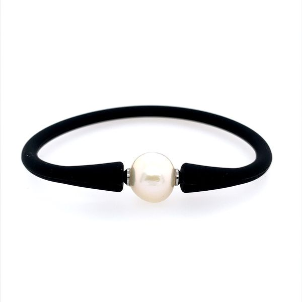 Black Bracelet with White Pearl Franzetti Jewelers Austin, TX