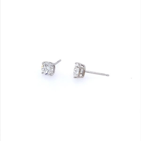 14K White Gold 1 CTW Lab Grown Diamond Studs Image 2 Franzetti Jewelers Austin, TX