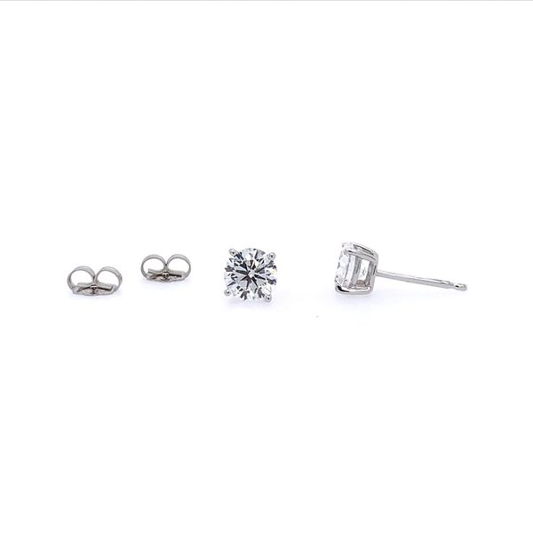 14K White Gold 1 CTW Lab Grown Diamond Studs Image 3 Franzetti Jewelers Austin, TX