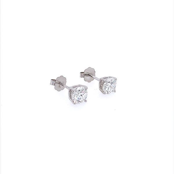 14K White Gold 1 CTW Lab Grown Diamond Studs Image 5 Franzetti Jewelers Austin, TX