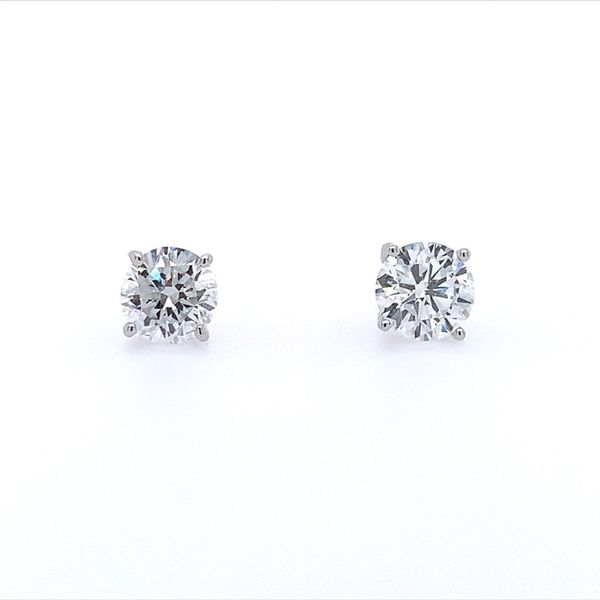 14K White Gold 1 CTW Lab Grown Diamond Studs Franzetti Jewelers Austin, TX