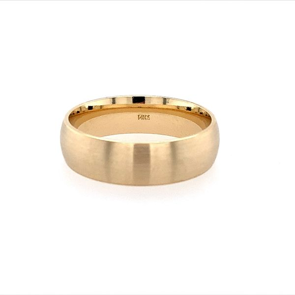 14KY Gold 6 MM Half Round Comfort Fit Light Band Image 2 Franzetti Jewelers Austin, TX