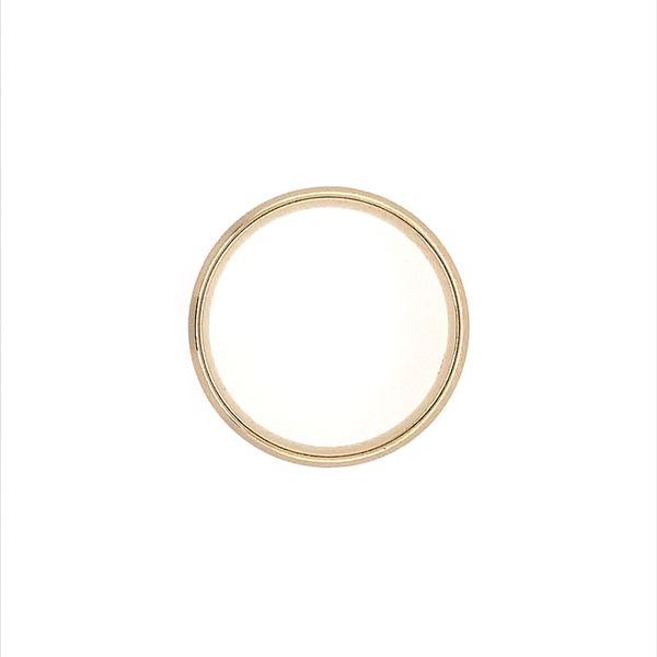 14KY Gold 6 MM Half Round Comfort Fit Light Band Image 3 Franzetti Jewelers Austin, TX