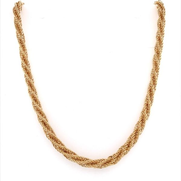 14K Yellow Gold Open Rope Necklace Image 2 Franzetti Jewelers Austin, TX