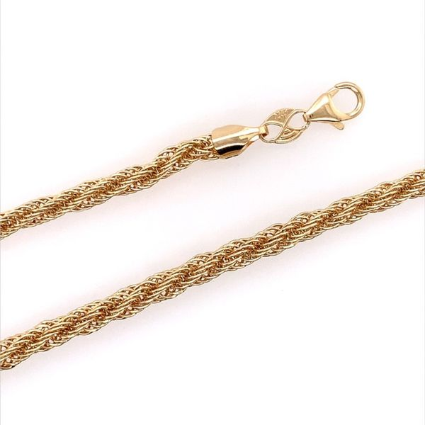14K Yellow Gold Open Rope Necklace Image 3 Franzetti Jewelers Austin, TX