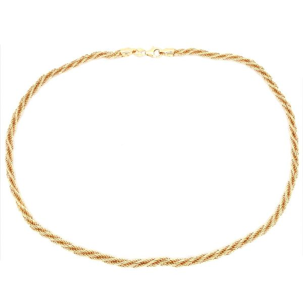 14K Yellow Gold Open Rope Necklace Image 4 Franzetti Jewelers Austin, TX