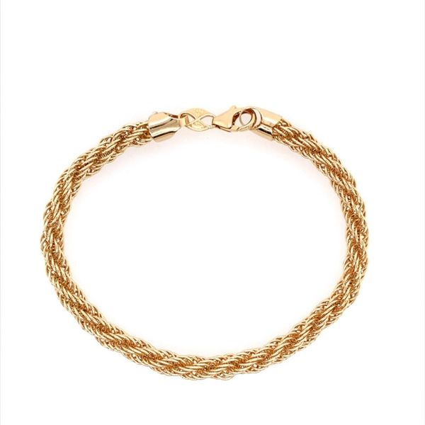 14K Yellow Gold Open Rope Bracelet Image 2 Franzetti Jewelers Austin, TX