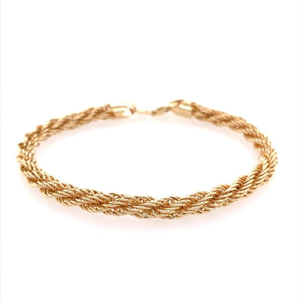 14K Yellow Gold Open Rope Bracelet Franzetti Jewelers Austin, TX