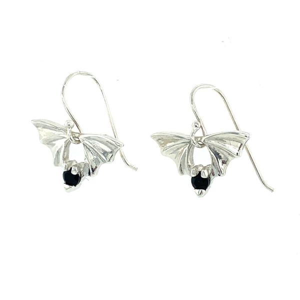 Bat Collection SS Earrings with Stones Franzetti Jewelers Austin, TX