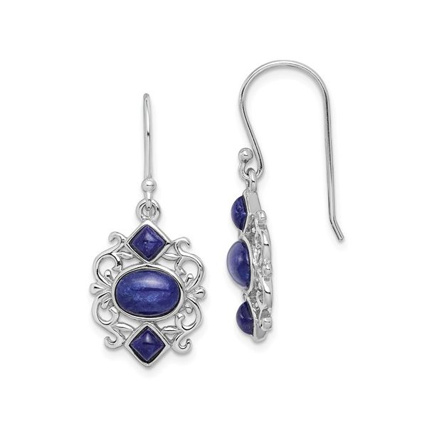 SS Earrings with Stones Franzetti Jewelers Austin, TX