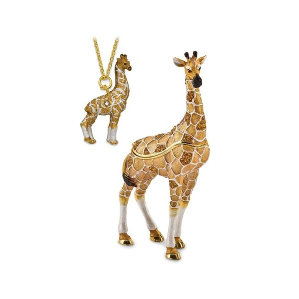 Bejeweled GUSTAV Formal Attire Giraffe Trinket Box Image 3 Franzetti Jewelers Austin, TX
