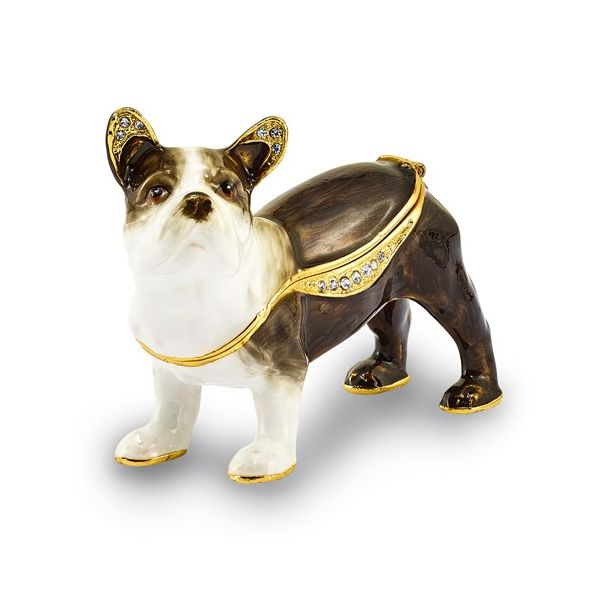 Bejeweled PIERRE French Bulldog Trinket Box Franzetti Jewelers Austin, TX