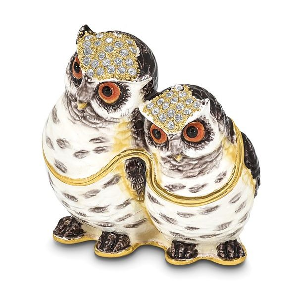 Bejeweled Mother and Baby Owl Trinket Box Franzetti Jewelers Austin, TX