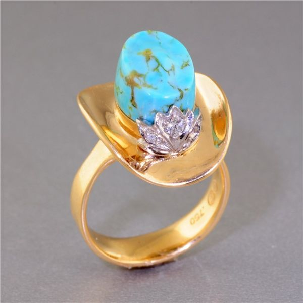 Colored Stone Ring French Designer Jeweler Scottsdale, AZ