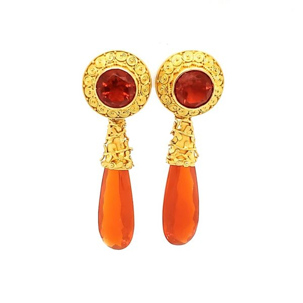 Carolyn Tyler 22K Yellow Gold and Fire Opal