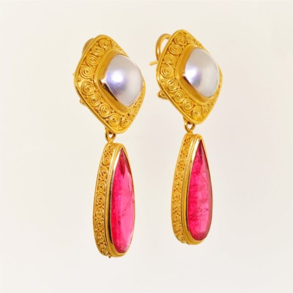 Pearl Earrings Image 2  ,
