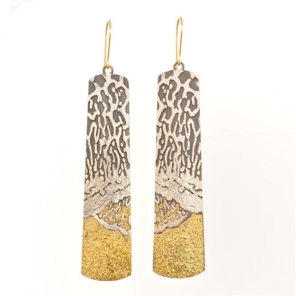 Oxi Silver and Gold Earrings French Designer Jeweler Scottsdale, AZ
