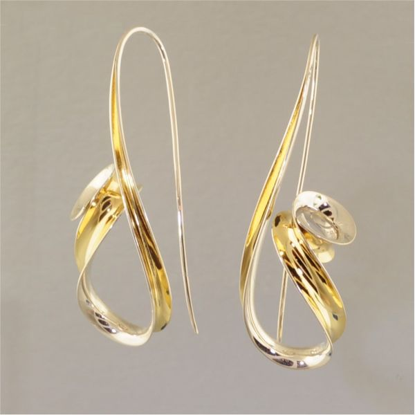 Silver and Gold Earrings Image 2  ,