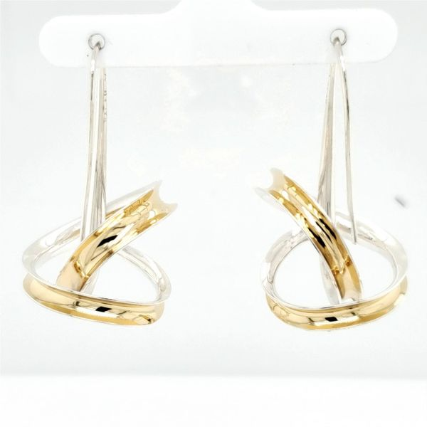 Silver and Gold Earrings French Designer Jeweler Scottsdale, AZ