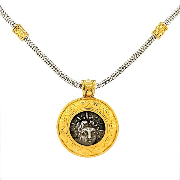 Silver and Gold Pendant French Designer Jeweler Scottsdale, AZ